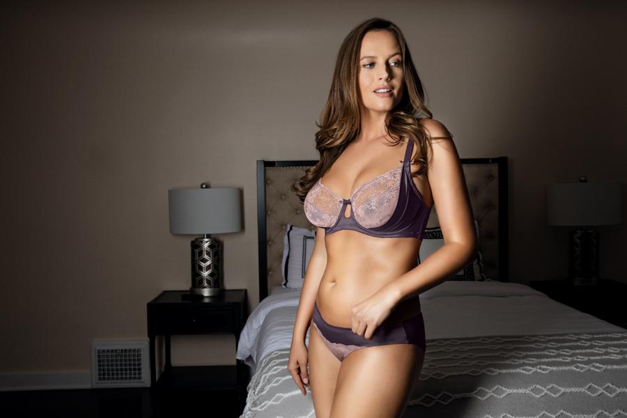 light purple bra