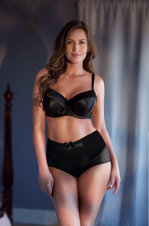 black satin bra