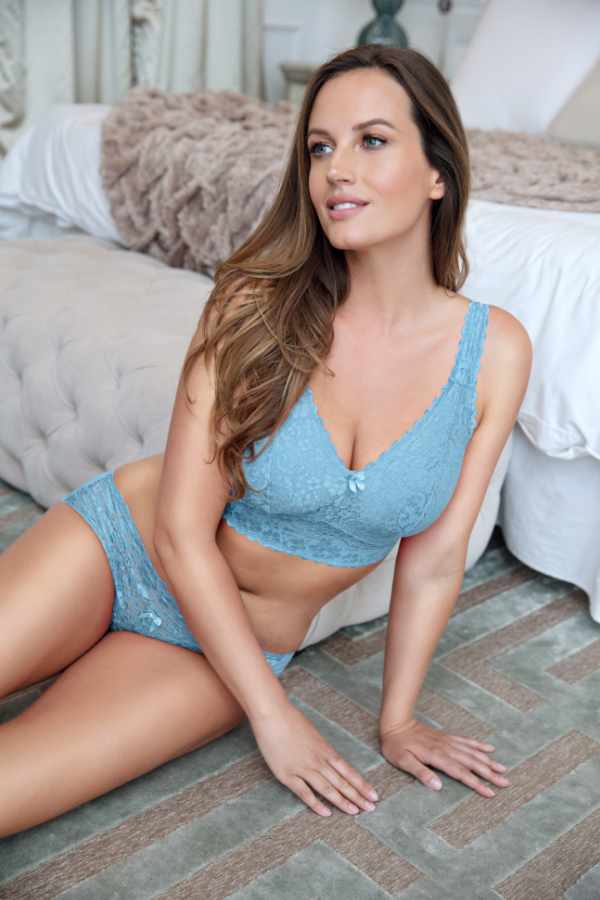 light blue bra