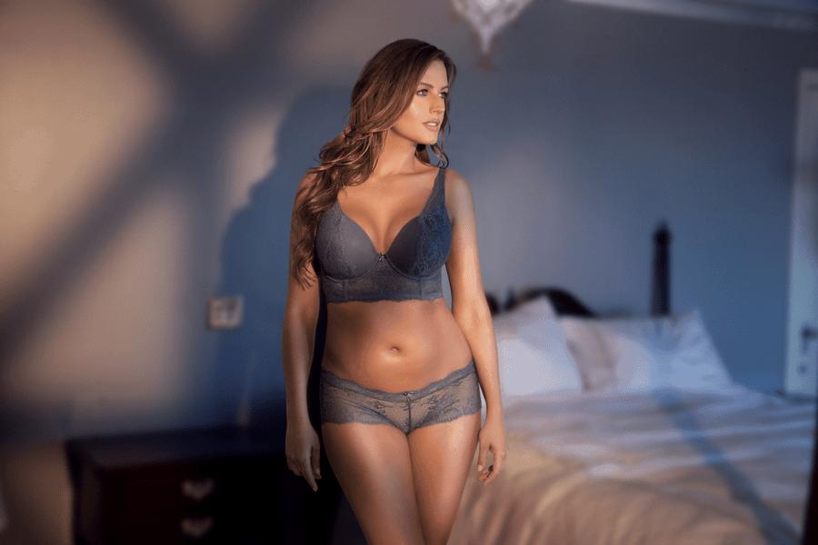 blue longline bra