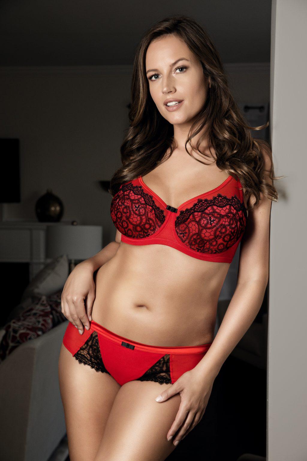 sexy red bra