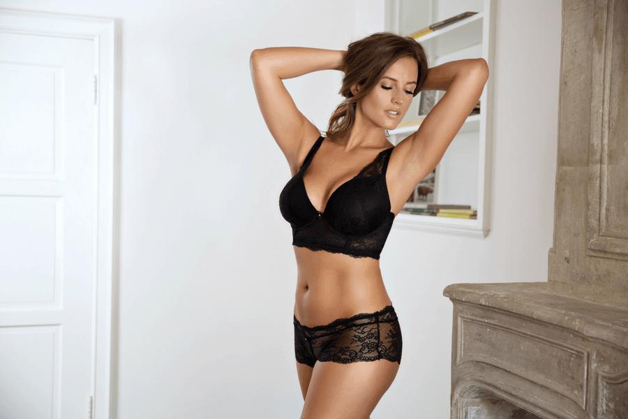 black longline bra