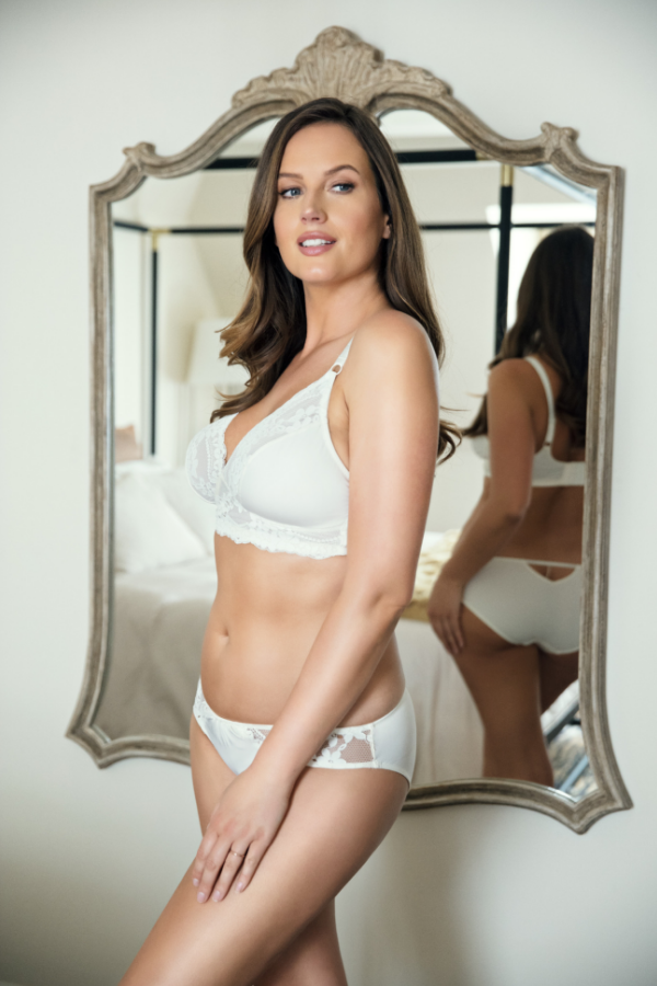 white bridal lingerie