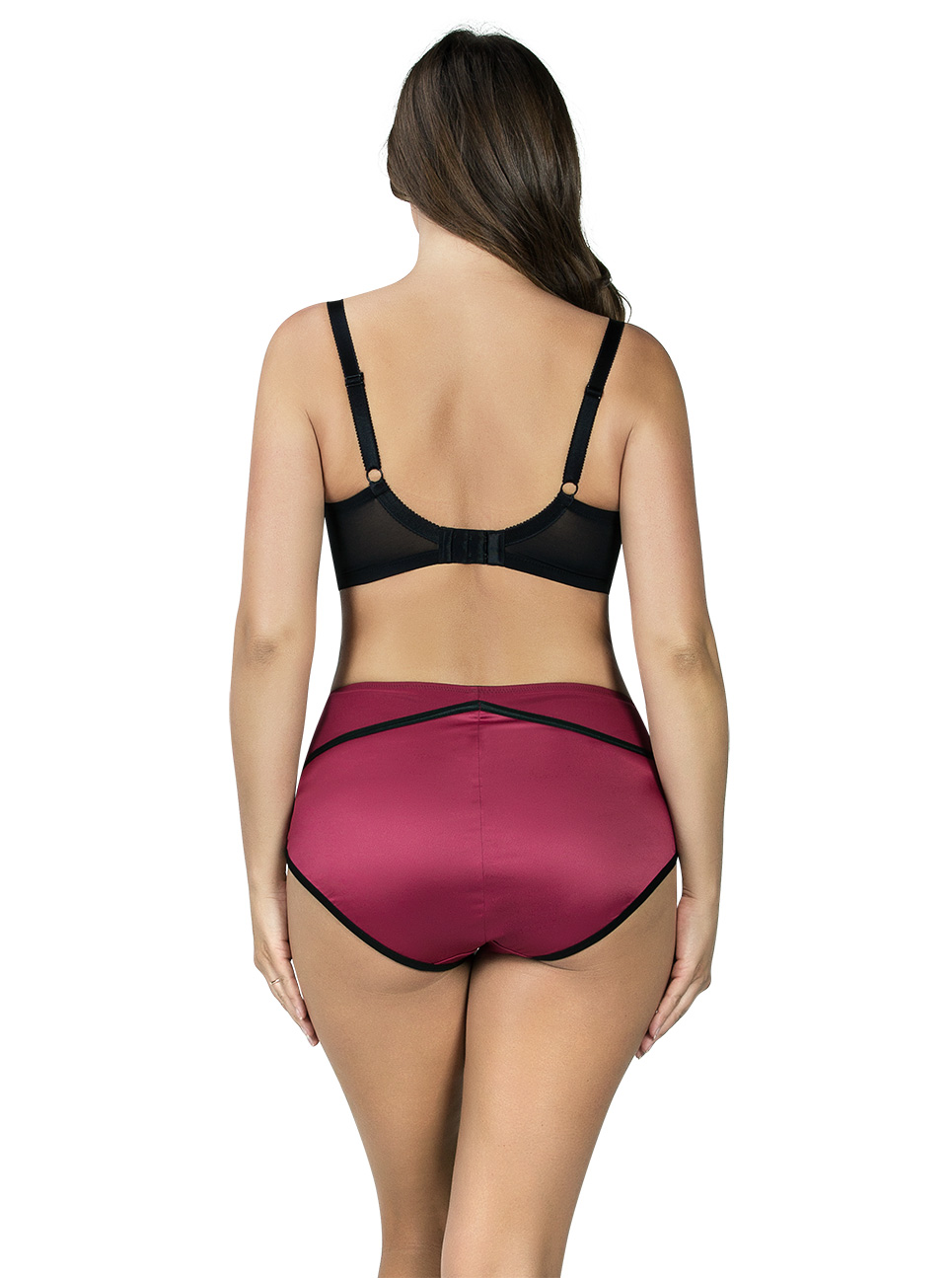 PARFAIT Charlotte PaddedBra6901 HighwaistBrief6917 RioRed Back - Charlotte Highwaist Brief Rio Red 6917