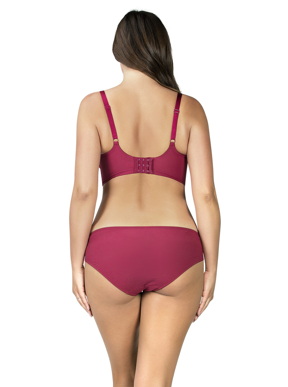 PARFAIT Cora UnlinedLonglineBraP5632 BikiniP5633 Crimson Back - Cora Unlined Longline Bra Crimson P5632