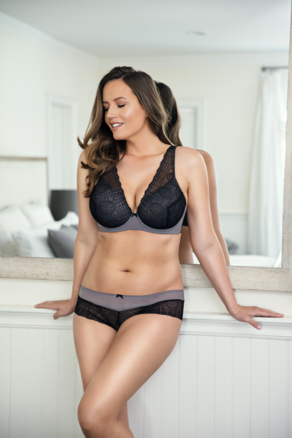 unlined lace bra with underwire