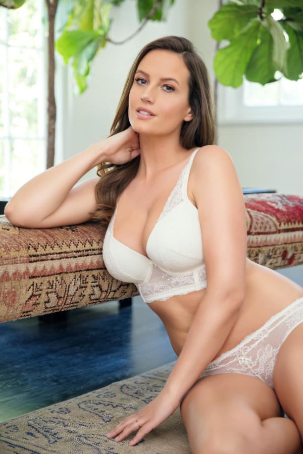 white longline bra