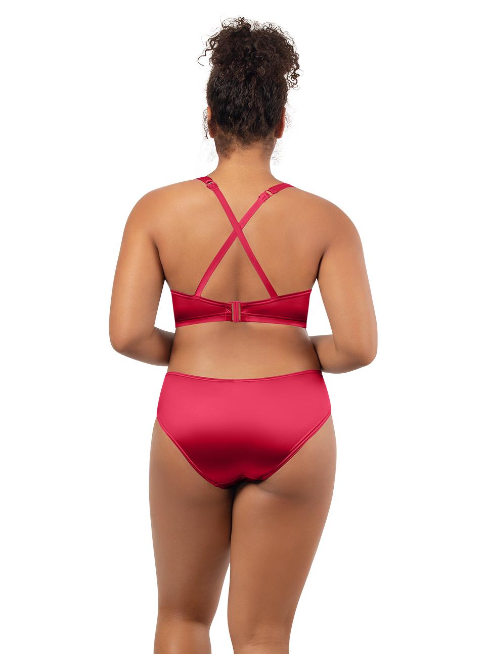 PARFAIT Rita LonglinePlungeTopS8142 Bikini BottomS8143 Cherry Black - Rita Longline Plunge Top Cherry S8142
