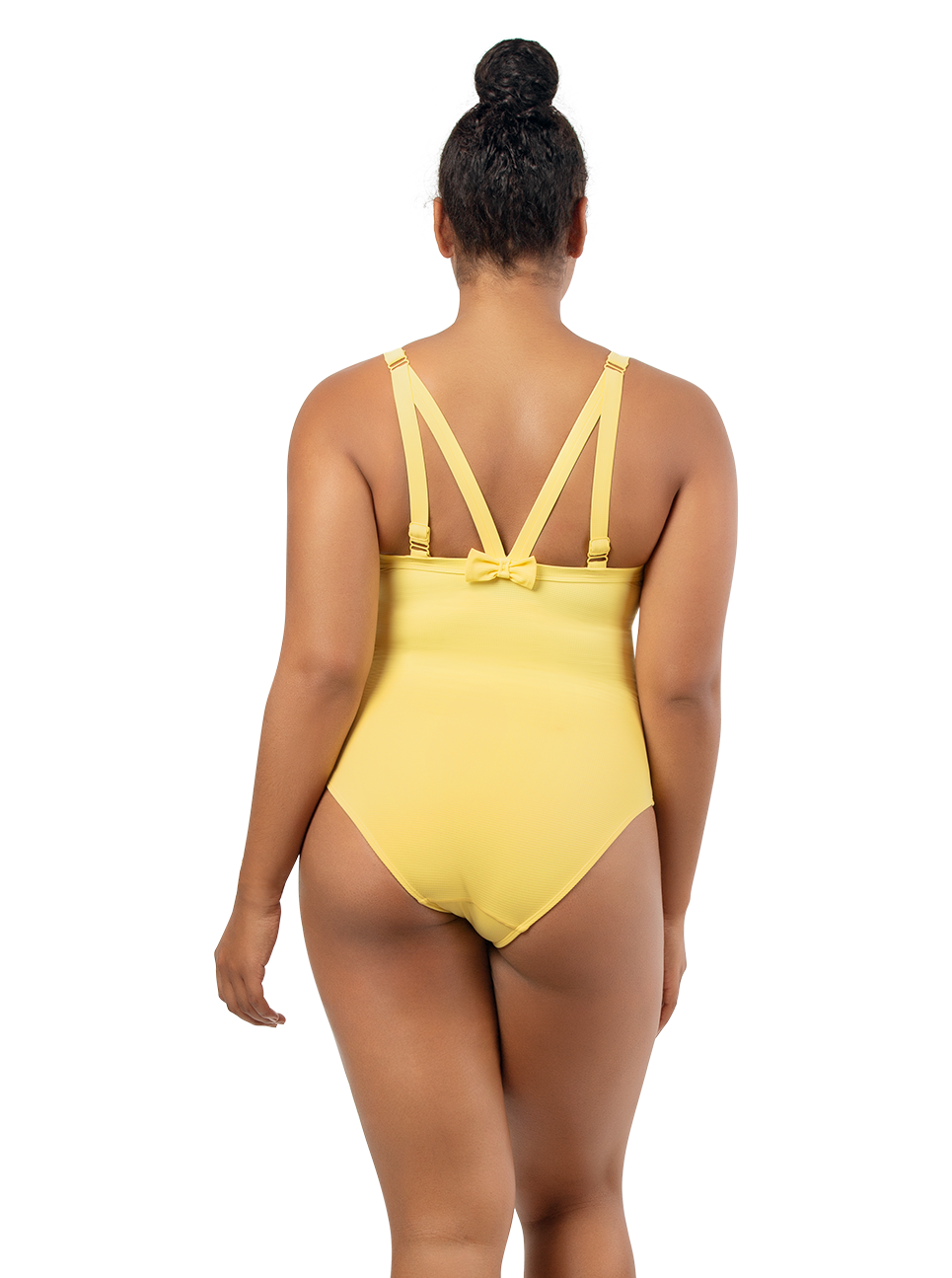 PARFAIT Vivien OnePieceSwimwearS8167 LemonDrop Back2 - Vivien One Piece Swimsuit Lemon Drop S8167
