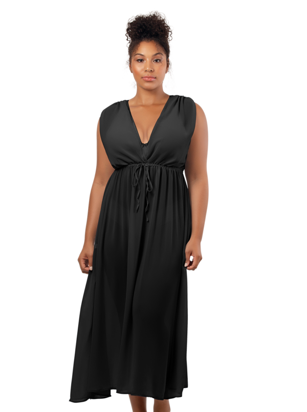 PARFAIT Rita BeachDressS8149 Black Front1 600x805 - Rita Beach Dress Black S8149