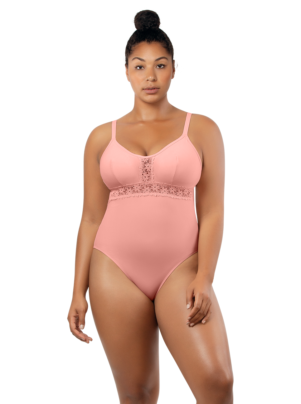 PARFAIT Brigitte OnePieceSwimsuitS8206 PeachBud Front2 - Brigitte One Piece Swimsuit Peach Bud S8206