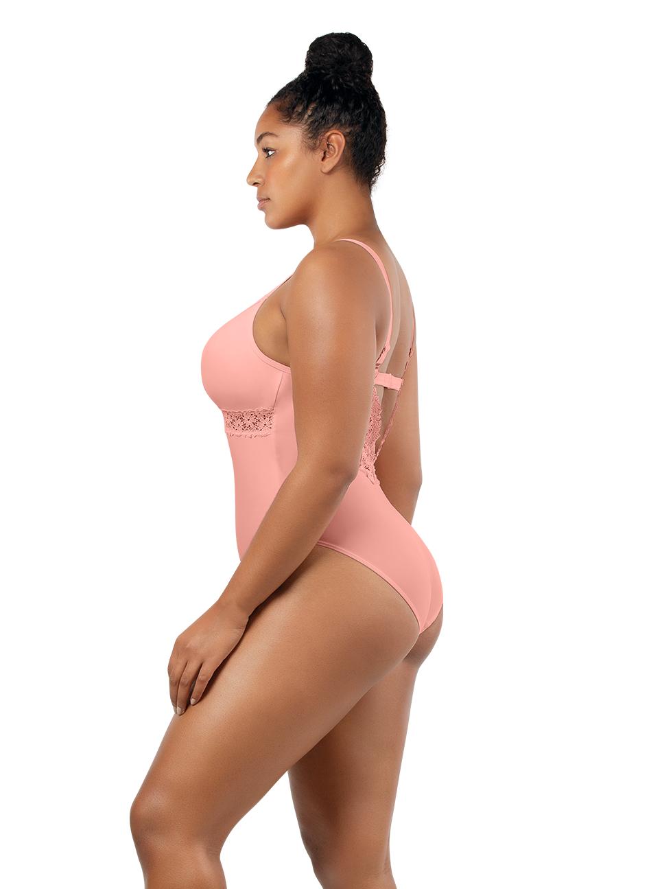 PARFAIT Brigitte OnePieceSwimsuitS8206 PeachBud Side2 - Brigitte One Piece Swimsuit Peach Bud S8206
