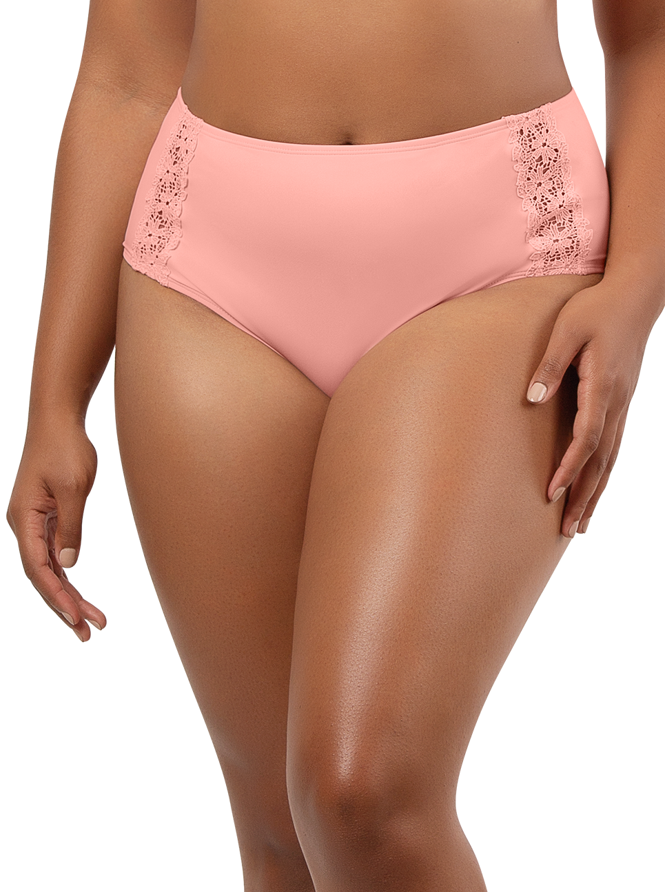 PARFAIT Brigitte HighwaistBikiniBottomS8205 PeachBud Front2 - Brigitte Highwaist Bikini Bottom Peach Bud S8205