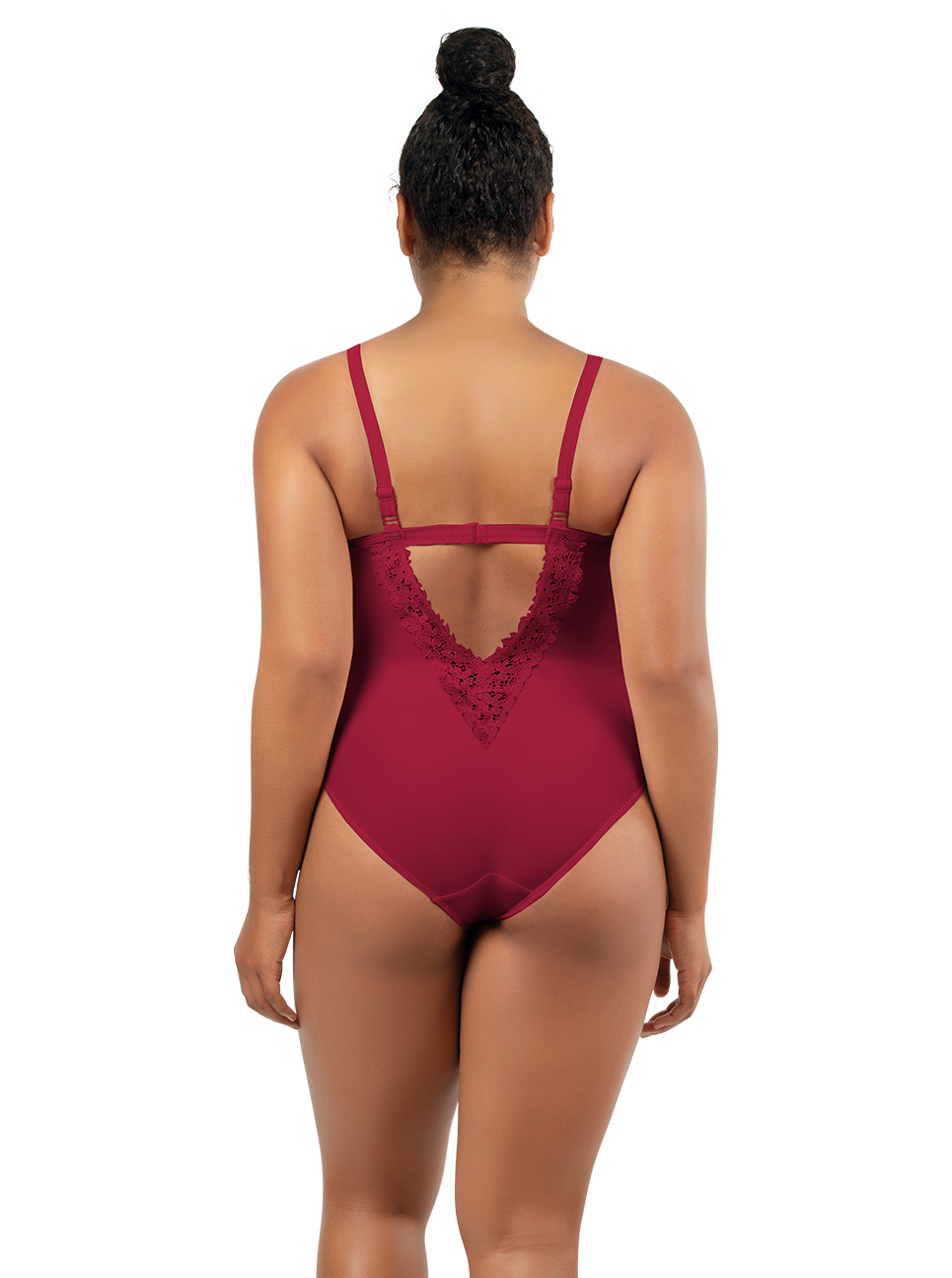 PARFAIT Brigitte OnePieceSwimsuitS8206 RumabaRed Back2 - Brigitte One Piece Swimsuit Rumba Red S8206