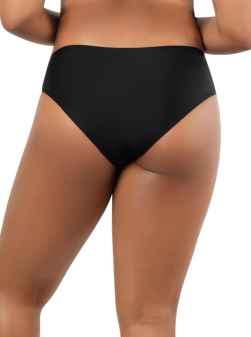 PARFAIT Lauren HighwaistBikiniBottomS8223 BlackWWhite Back - Lauren Highwaisted Bikini Bottom Black w White S8223
