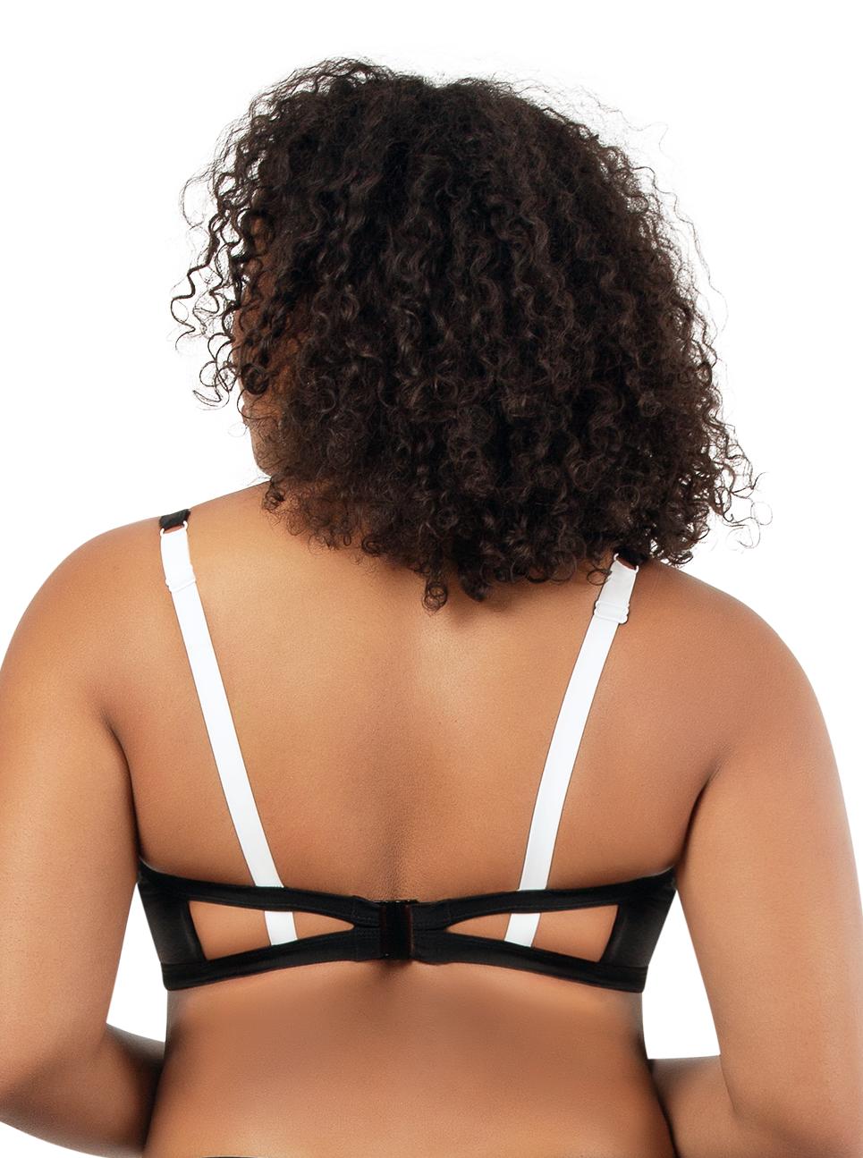 PARFAIT Lauren TriangleSwimTopS8222 BlackWWhite Back - Lauren Triangle Swim Top Black w White S8222