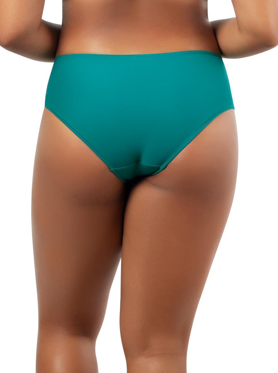PARFAIT Lauren HighwaistBikiniBottomS8223 DarkMintWTIbetanStone Black - Lauren Highwaisted Bikini Bottom Dark Mint w Tibetan Stone S8223