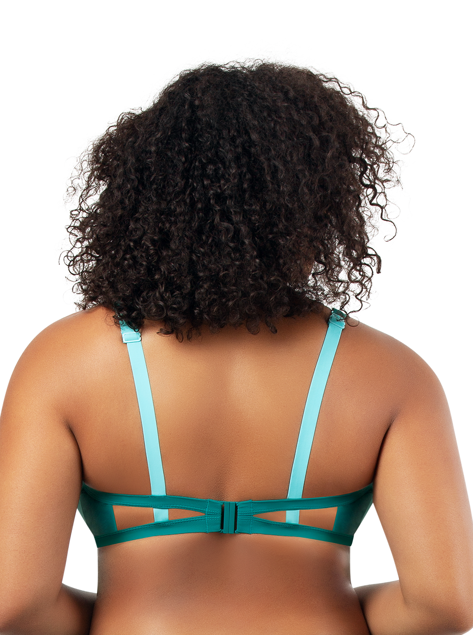 PARFAIT Lauren TriangleSwimTopS8222 DarkMintWTIbetanStone Black - Lauren Triangle Swim Top Dark Mint w Tibetan Stone S8222