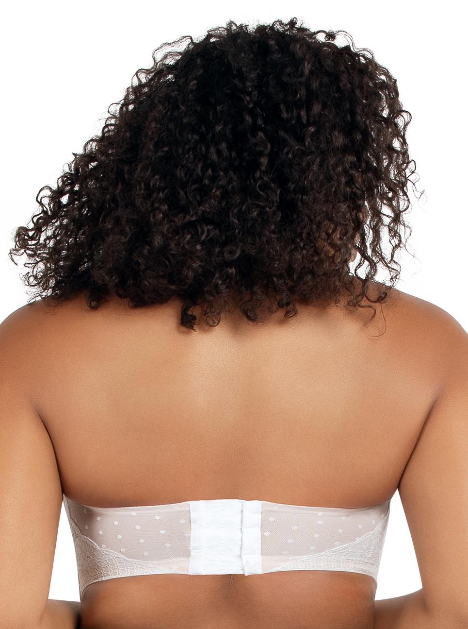 PARFAIT Amber StraplessBraA16812 PearlWhite Back - Amber Strapless Bra Pearl White A16812