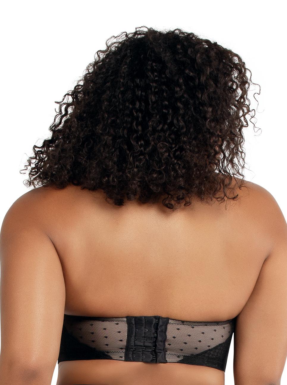 PARFAIT Amber StraplessBraA16812 Black Back - Amber Strapless Bra Black A16812