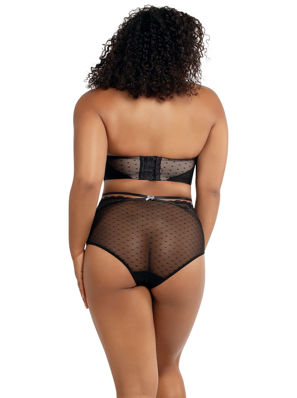PARFAIT Amber StraplessBraA16812 HighwaistedBriefA1685 Black Back - Amber Highwaisted Brief Black A1685