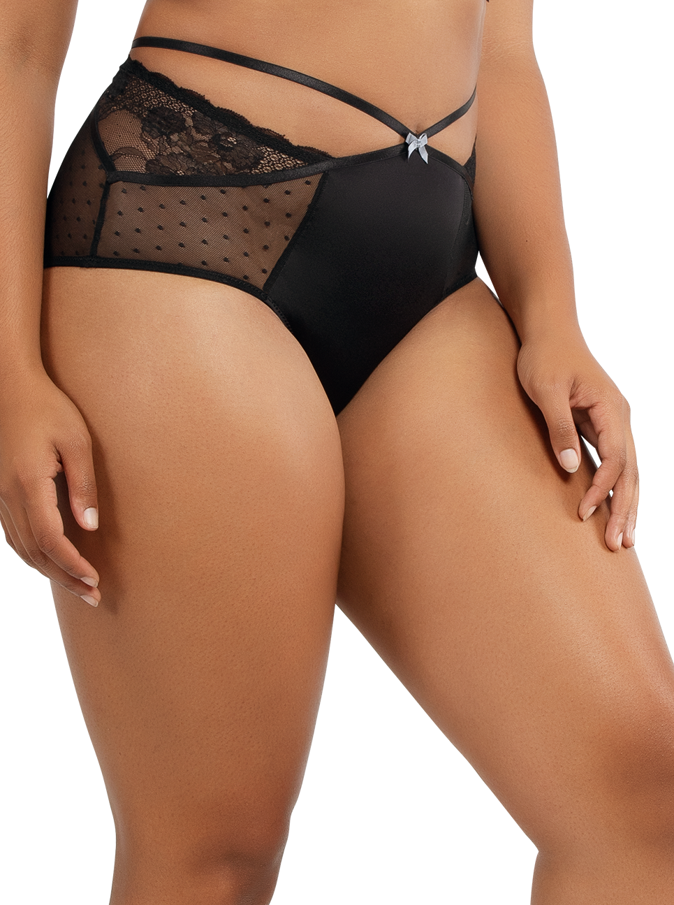 PARFAIT Amber HighwaistedBriefA1685 Black Side - Amber Highwaisted Brief Black A1685