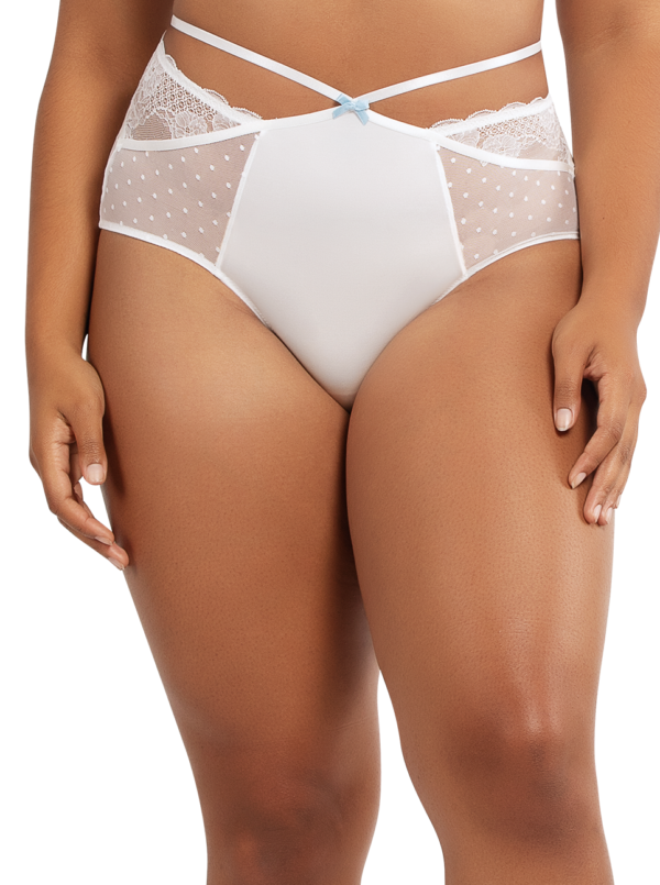 PARFAIT Amber HighwaistedBriefA1685 PearlWhite Front 600x805 - Amber Highwaisted Brief Pearl White A1685