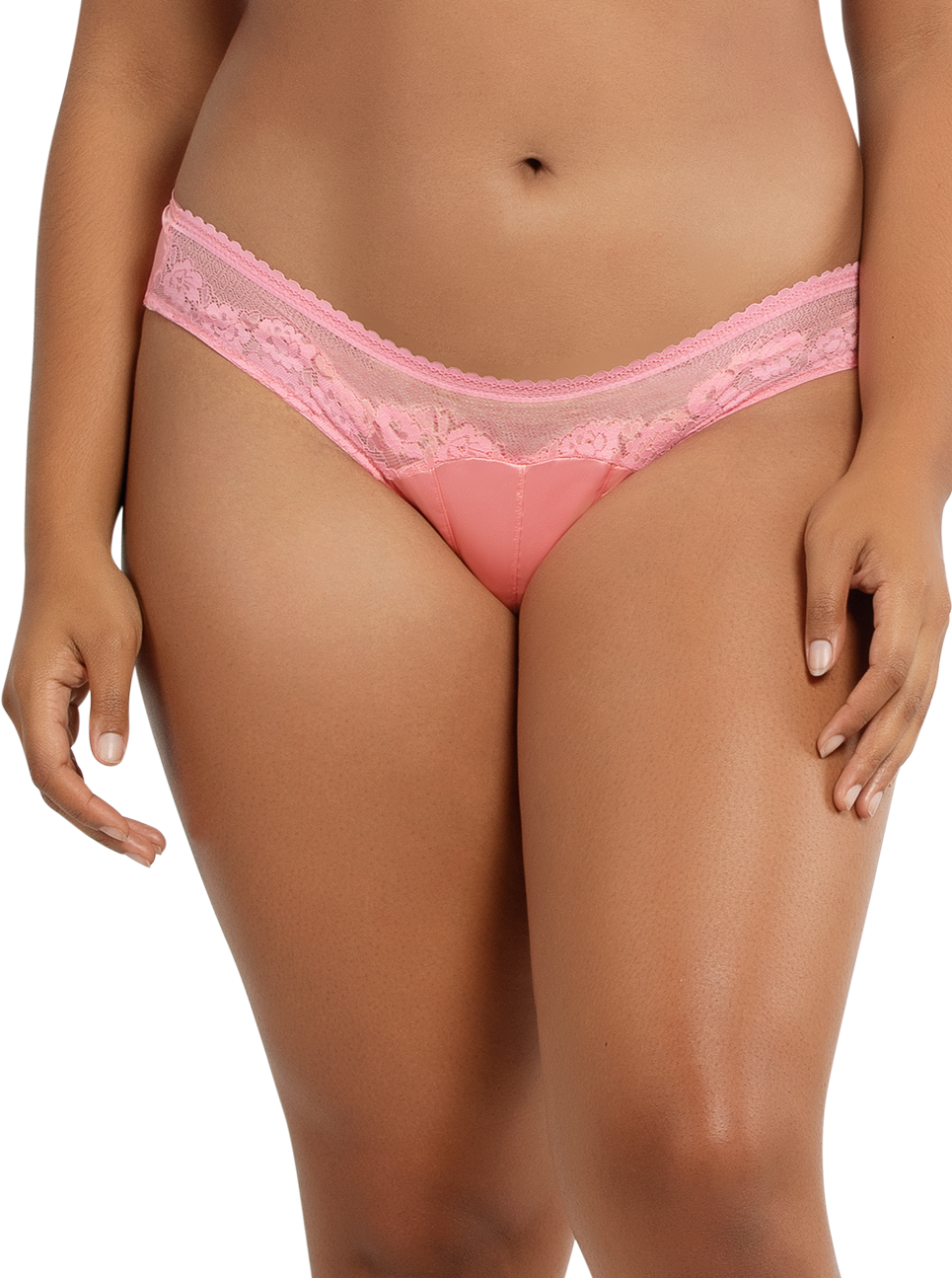 PARFAIT Jade BikiniA1653 FlamingoPink Front - Jade Bikini Flamingo Pink P1653