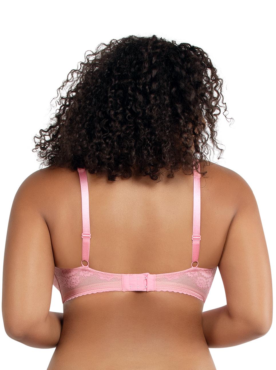 PARFAIT Jade PaddedBraletteA1651 FlamingoPink Back - Jade Padded Bralette Flamingo Pink A1651