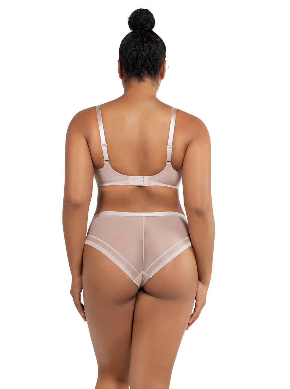 PARFAIT Maya UnlinedBandlessPlungeUnderwireBraP5752 HipsterP5753 ShadowGray Back - Maya Unlined Plunge Bra Shadow Gray P5752
