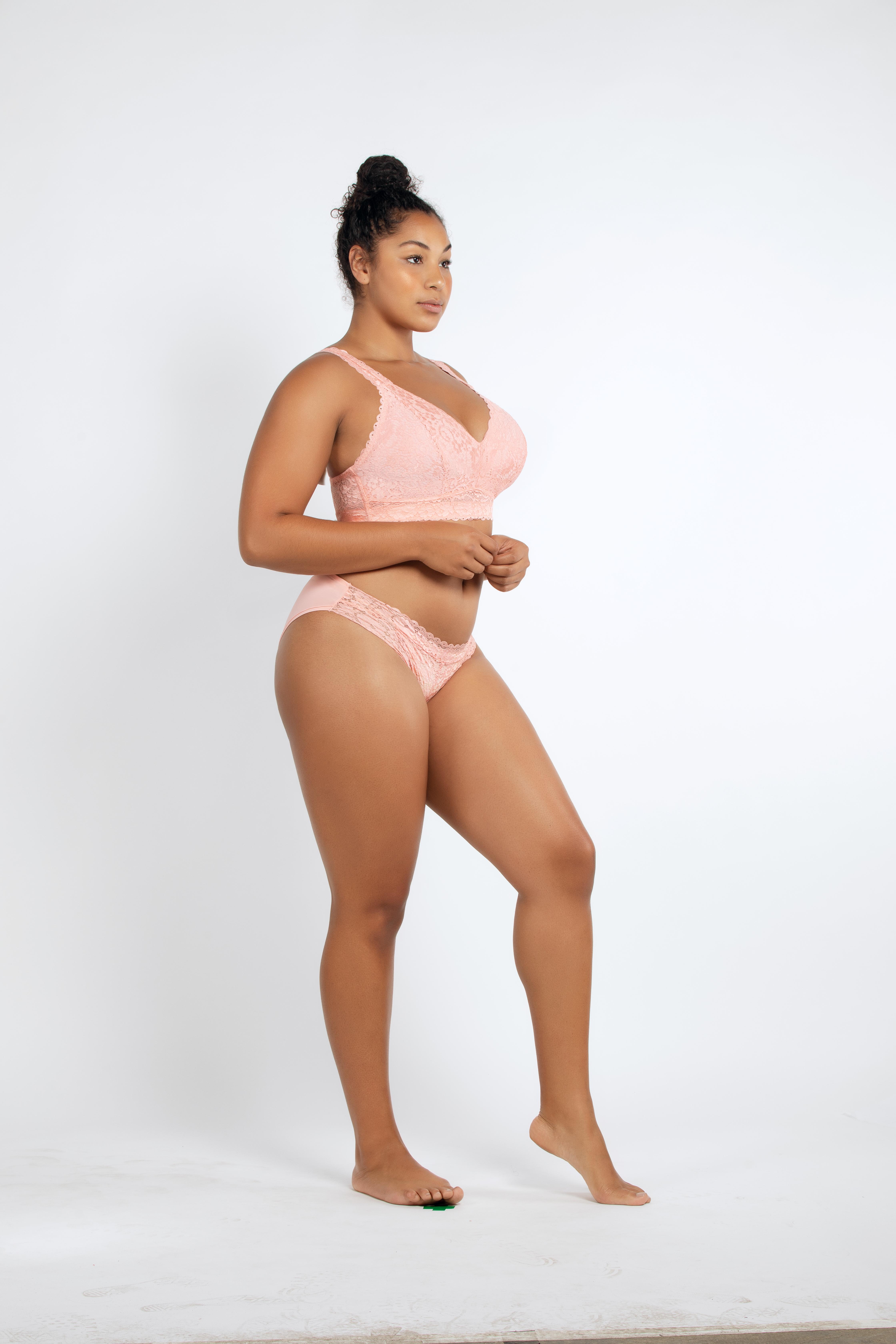 PARFAIT Adriana LaceBraletteP5482 BikiniP5483 PeachBud Side2 - Adriana Lace Bralette - Peach Bud - P5482