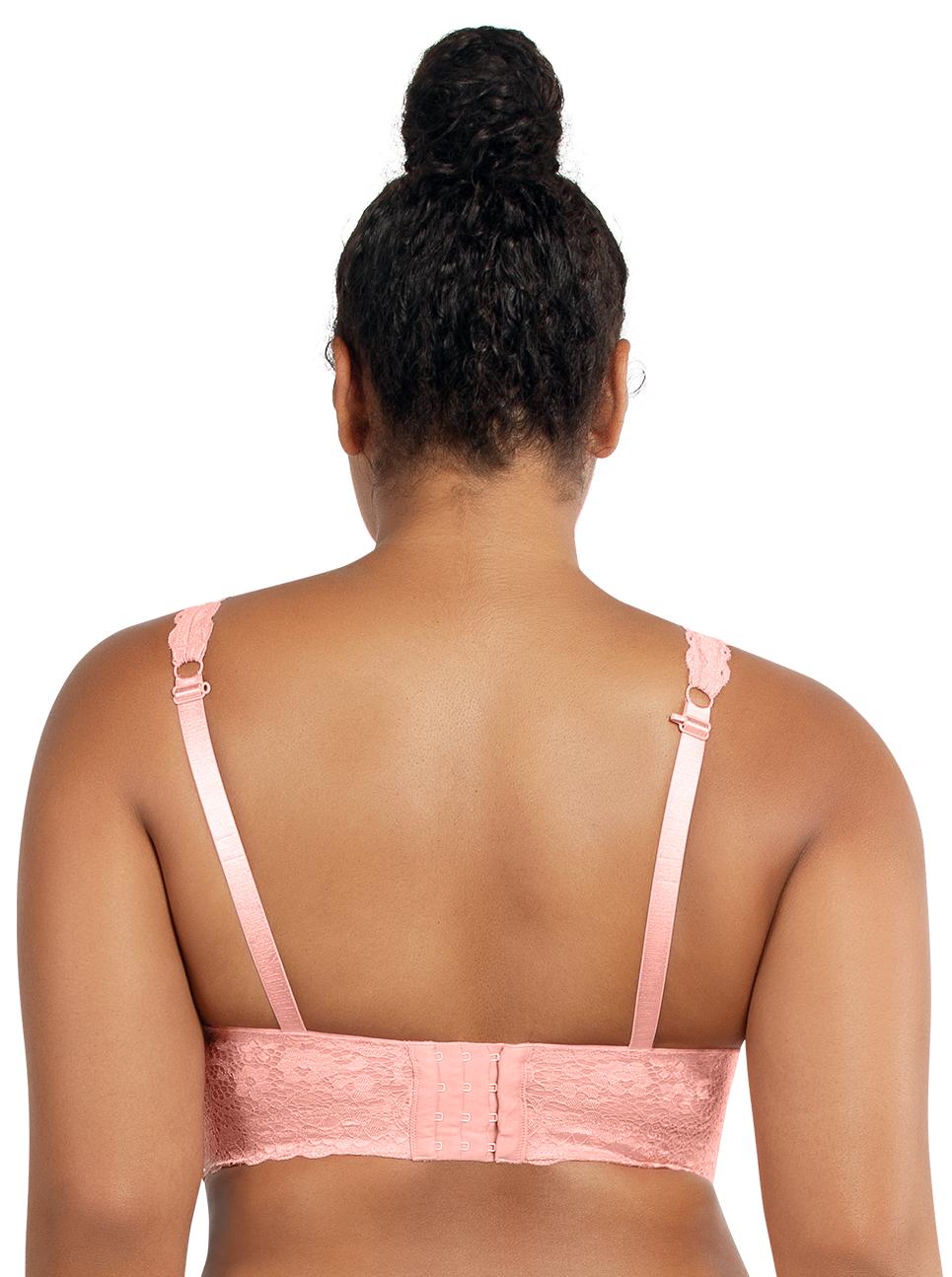 PARFAIT Adriana LaceBraletteP5482 PeachBud Back - Adriana Lace Bralette - Peach Bud - P5482