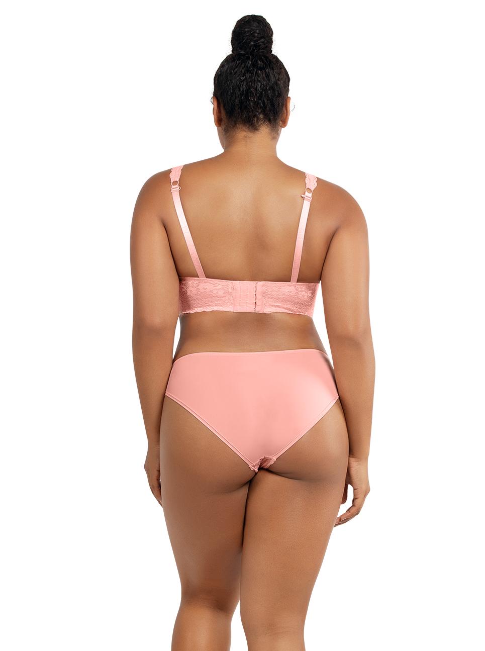 PARFAIT Adriana LaceBraletteP5482 BikiniP5483 PeachBud Back - Adriana Bikini - Peach Bud - P5483