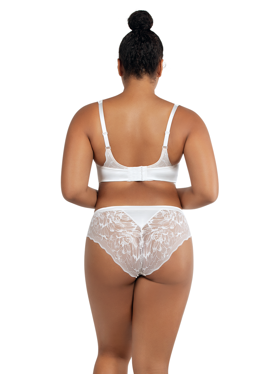 PARFAIT Vanessa UnlinedWireBraP5792 HipsterP5793 PearlWhite Back - Vanessa Hipster Pearl White P5793