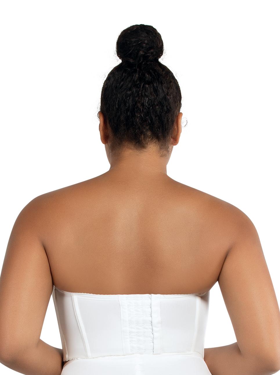 PARFAIT Elissa StraplessContourBustierP50116 PearlWhite Back - Elissa Short Bustier Pearl White P50116
