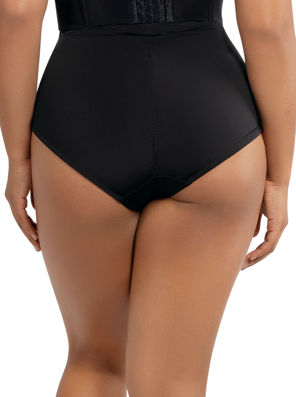 PARFAIT Elissa HighwaistedSmoothControlBoylegP50155 Black Back - Elissa Highwaisted Control Boyleg Black P50155
