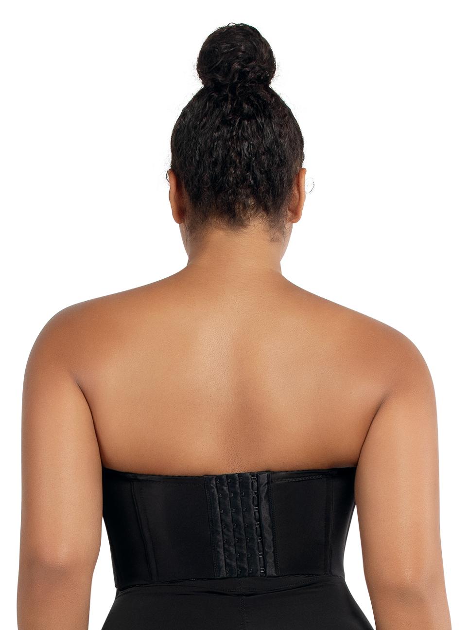 PARFAIT Elissa StraplessContourBustierP50116 Black Back - Elissa Short Bustier Black P50116