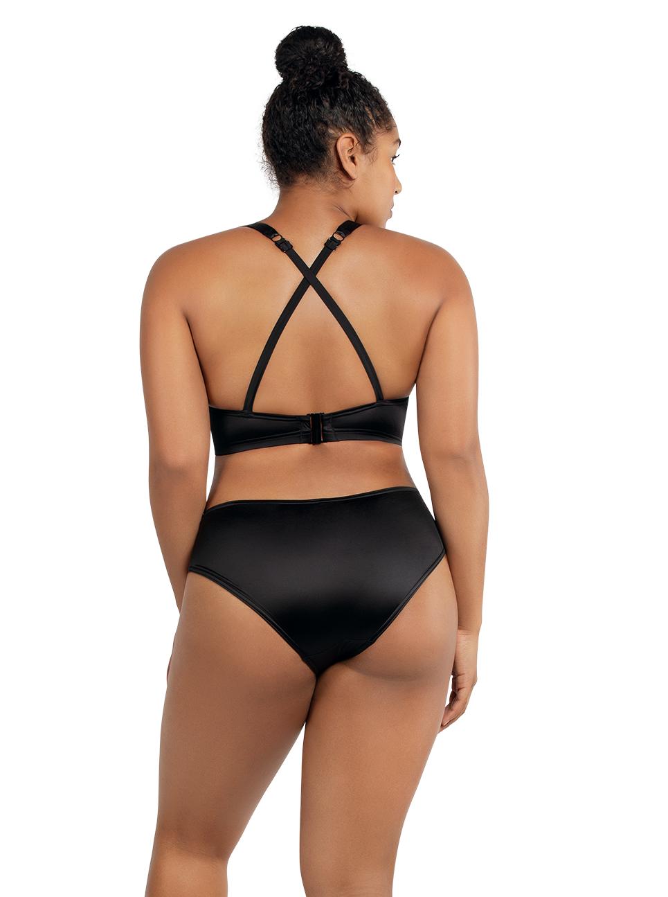 PARFAIT Rita LonglinePlungeTopS8142 BikiniBottomS8143 Black Back - Rita Longline Plunge Top Black S8142