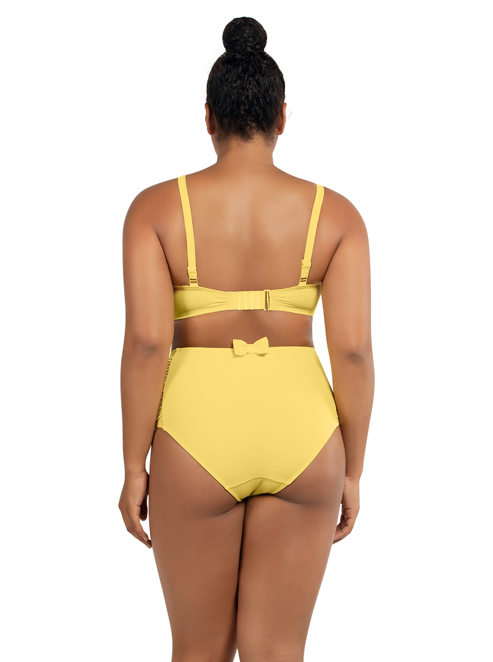PARFAIT Vivien BalconetteBikiniTopS8162 HighwaistedBottomS8165 LemonDrop Back - Vivien Highwaisted Bottom Lemon Drop S8165