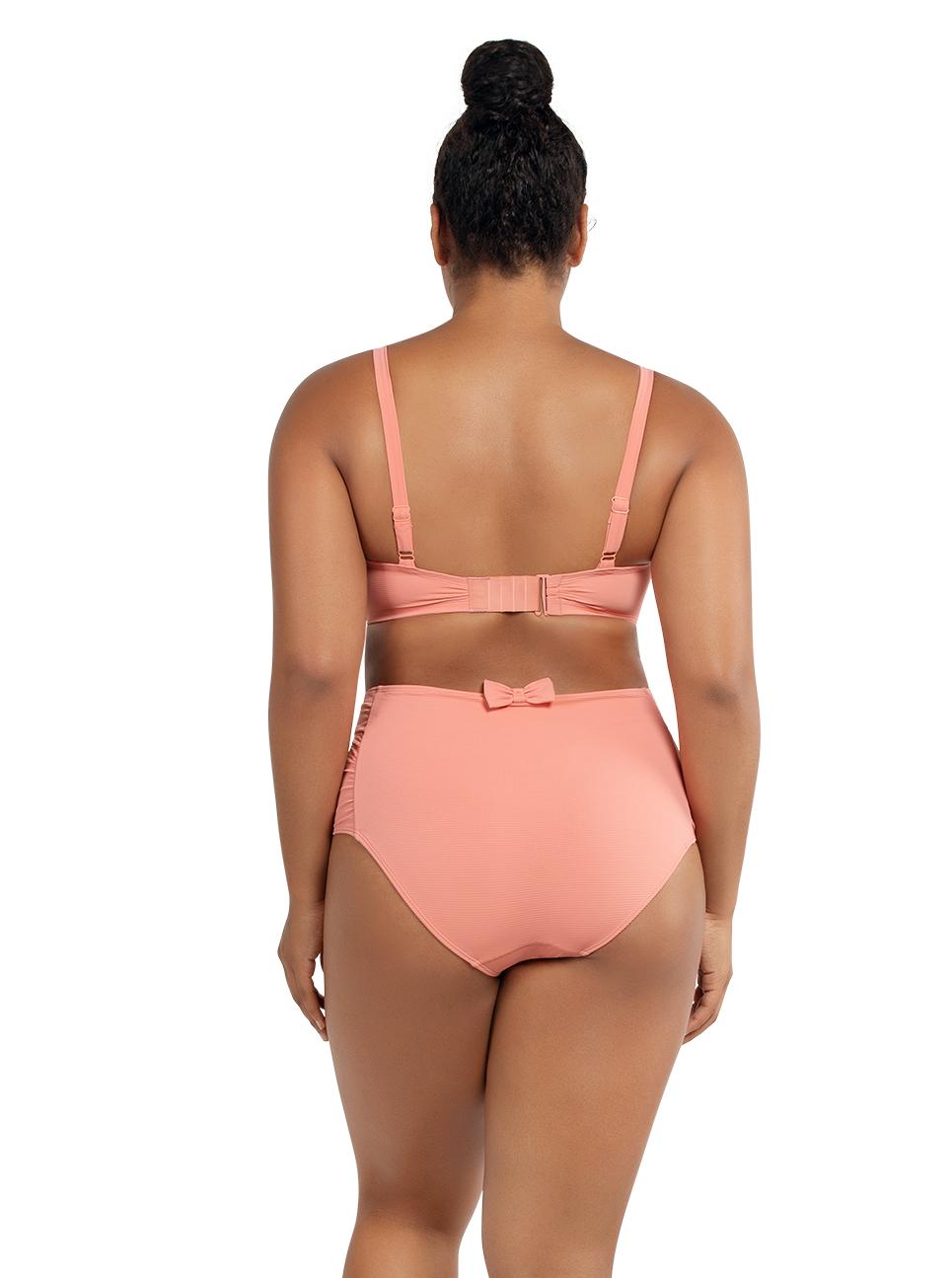 PARFAIT Vivien BalconetteBikiniTopS8162 HighwaistedBottomS8165 PinkBlush Back - Vivien Highwaisted Bottom Pink Blush S8165