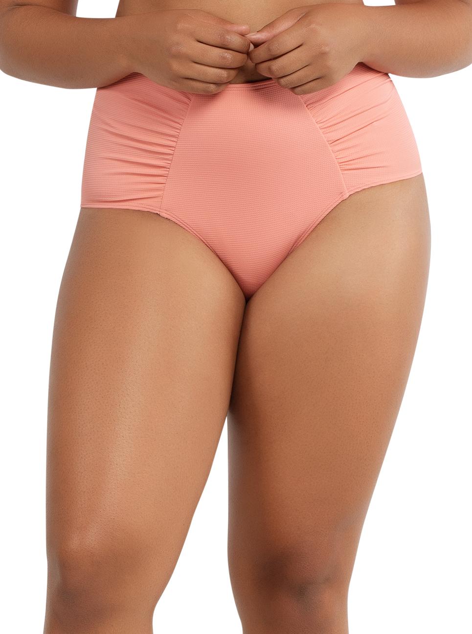 PARFAIT Vivien HighwaistedBottomS8165 PinkBlush Front - Vivien Highwaisted Bottom Pink Blush S8165