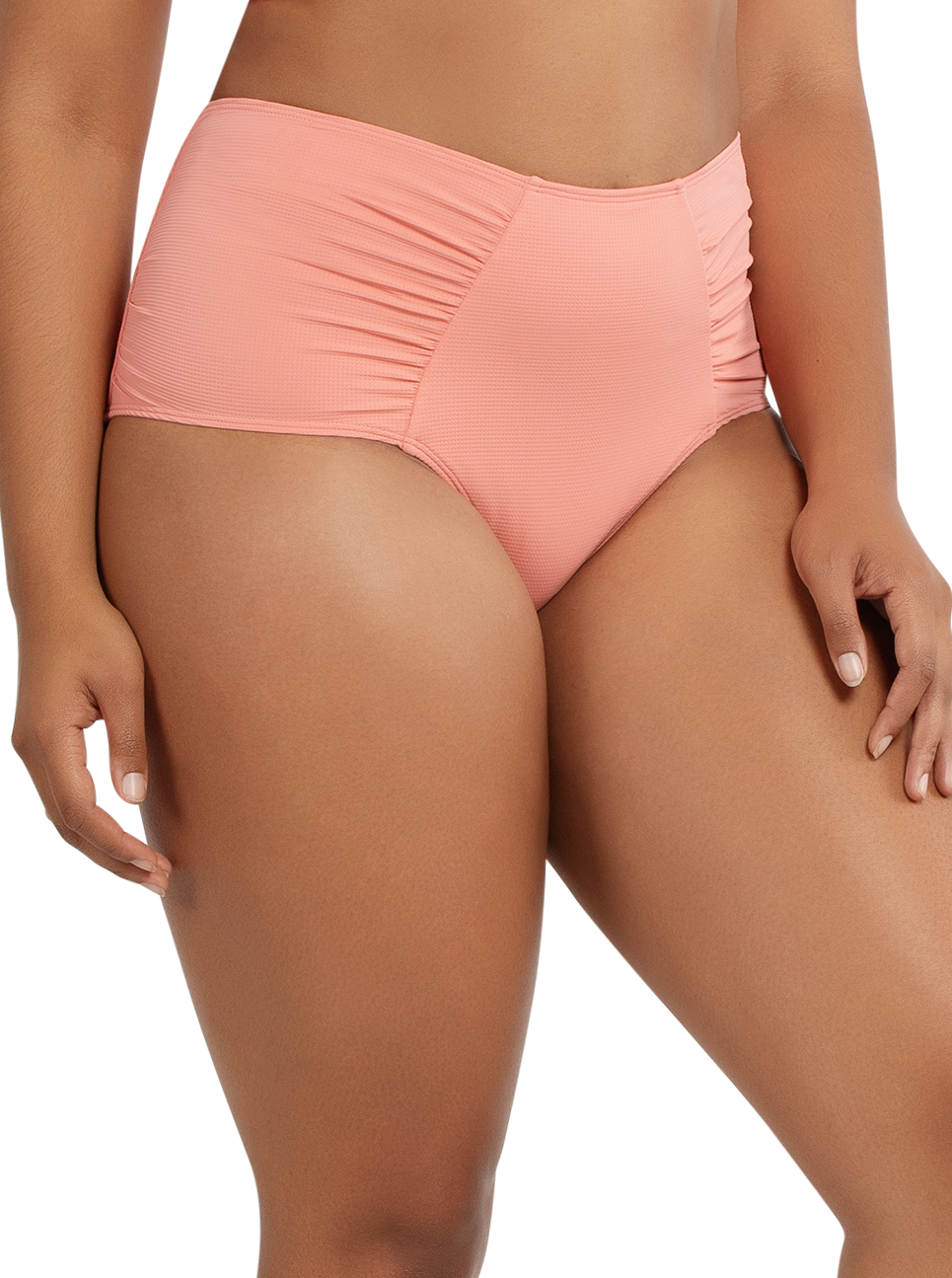 PARFAIT Vivien HighwaistedBottomS8165 PinkBlush Side - Vivien Highwaisted Bottom Pink Blush S8165