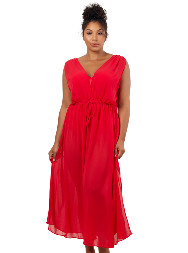 PARFAIT Rita BeachDressS8149 Cherry Front1 600x805 - Rita Beach Dress Cherry S8149