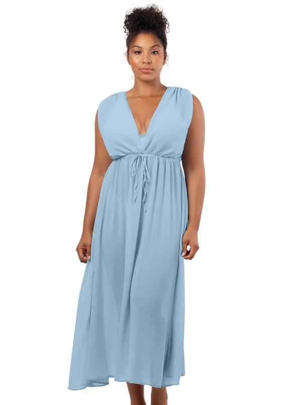 PARFAIT Rita BeachDressS8149 DreamBlue Front1 600x805 - Rita Beach Dress Dream Blue S8149