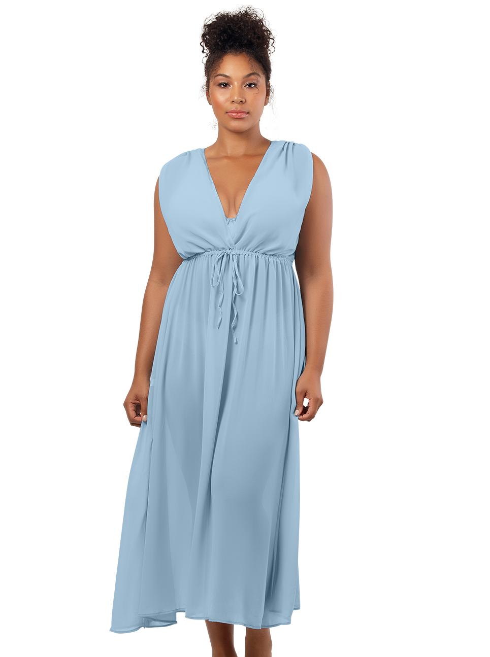 PARFAIT Rita BeachDressS8149 DreamBlue Front1 - Rita Beach Dress Dream Blue S8149