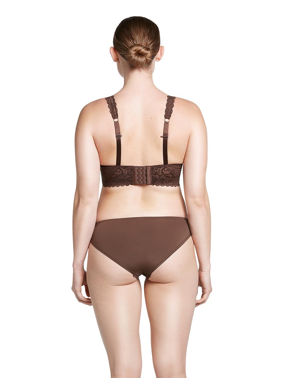 PARFAIT Adriana LaceBralette P5482 Bikini P5483 IntenseBrown Back - Adriana Lace Bralette Deep Nude P5482