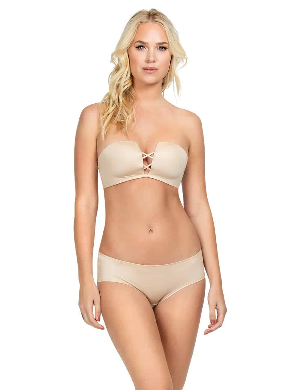 Deco Wire-free Strapless Bra - Bare - A15412